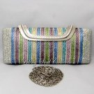 Light Multi Color Long Evening Bag