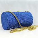 Party Blue Secret Scroll Crystal Purse