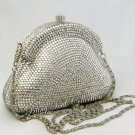 Silver Crystal Wedding Purse | Crystal Evening Bags for Bridals