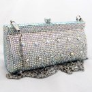 DESIGNER SILVER AB SWAROVSKI CRYSTALLIZED EVENING CLUTCH BAG