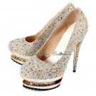 Gorgeous Multicolor Crystal Shoes