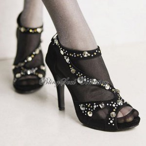 Stunning Prom Shoes with Crystals`