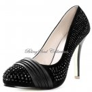 Crystallized Women Heels Prom Shoes