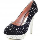 Stylish Heels with Crystals