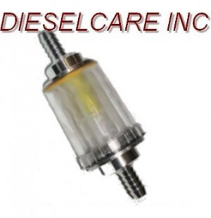 """ONE WAY FLOW VALVE 3/8"""" In Line Fuel Filter With Check"""