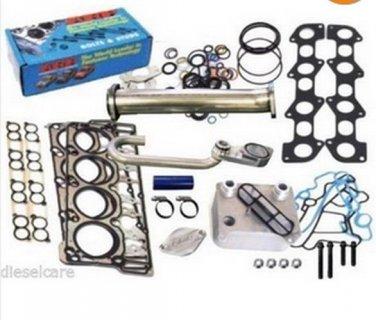 6.0L Ford Solution Kit Head Studs EGR Delete Dorman Oil Cooler Gaskets 18mm 20mm