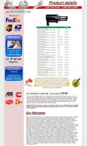 Ford 6.0L Powerstroke Injector Pressure Regulator IPR Valve 2005-2010