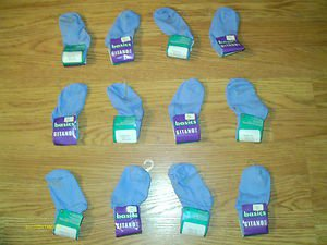 NEW with TAGS 12 pair GITANO BASICS BLUE INFANT SOCKS SIZE 5-6  FREE SHIPPING