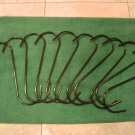 "10 pcs LARGE ""S"" hooks METAL with PVC inside diameter measures approx. 3"" NEW"