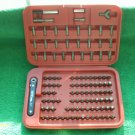 110 Piece TORX and SECURITY Bit Set with RATCHET NEW IN PLASTIC STORAGE CASE