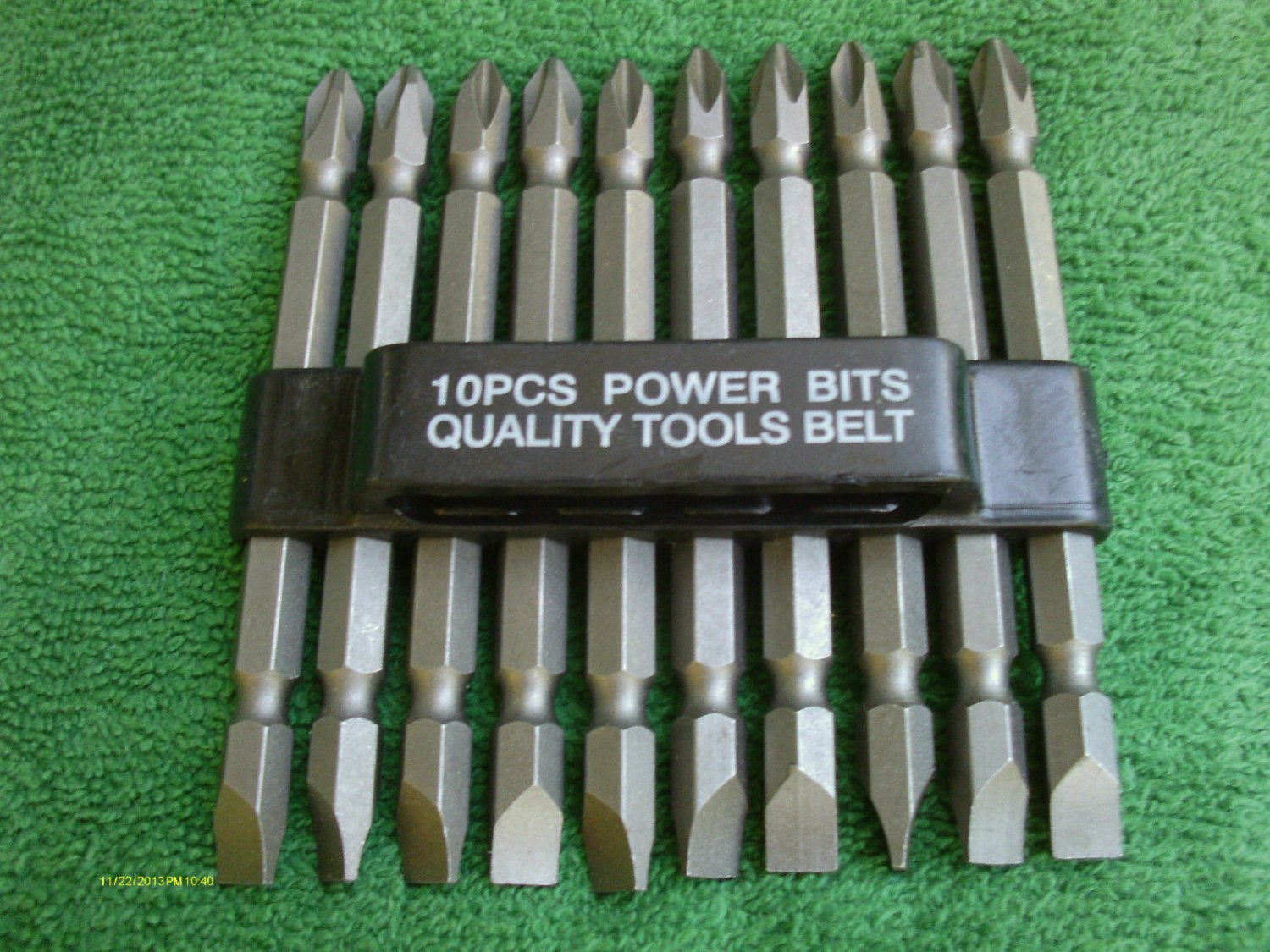 """10 pieces DOUBLE END POWER BIT w/PLASTIC HOLDER 3 1/2 inch LONG #2ph X 1/4"""" NEW"""