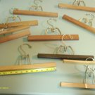 9 STURDY WOODEN CLOTHES HANGERS ASSORTED STYLES