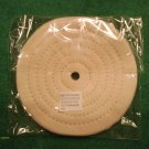 "(2) 6"" DIAMETER 1/2"" THICK COTTON polishing BUFFING WHEEL 1/2"" ARBOR HOLE NEW"