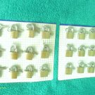 24 small metal brass padlocks 3 keys each luggage, locker NEW/sealed