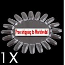 1 X False Nail Tips Art Display Practice Wheel Board + Free shipping!