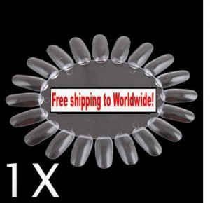 1 X False Nail Tips Art Display Practice Wheel Board + Free shipping!