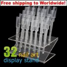 32 Nail Art Tips Display Stand + Free shipping!