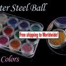 12 x Glitter 3D Steel Ball for Nail Art + Free shipping!