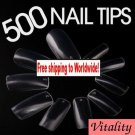 500 x Clear French Nail Art Tips  + Free shipping!