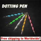 5 x Nail Dotting Pen + Free shipping!