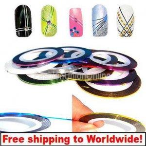10 x Nail Art Striping Tape + Free hipping!