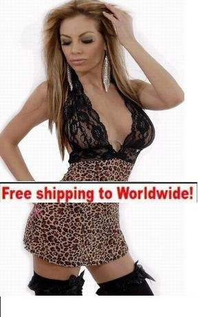 Leopard Sexy Lingerie Sleepwear + Free shipping to worldwide!