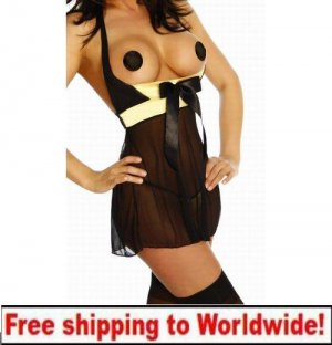 Sexy Charming Open Gold Lingerie + Free shipping to worldwide!