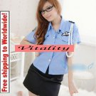 Blue Sexy Lingerie Police Uniform + Free shipping to worldwide!