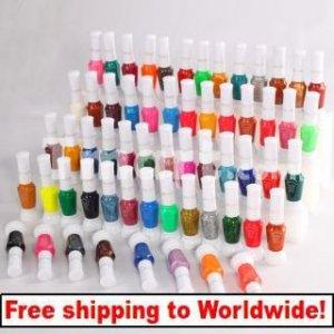 60 Colors 2-way Nail Art Polish Varnish Paint with Brush tm0004445 +Free shipping to worldwide!