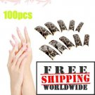 100pcs Fashion Pattern False Nail tmH01305 + Free shipping to worldwide!