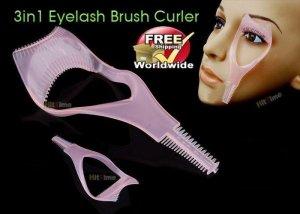 3 in 1 Mascara Eyelash Brush Curler Lash Comb BC + Free shipping to worldwide!