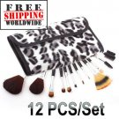 12 Makeup Brush Set Case BC + Free shipping to worldwide!