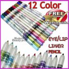 12 Color eyeliner lip Pencil BC + Free shipping to worldwide!