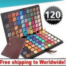 120 Full Color Palette Eyeshadow with Leather Case BC+ Free shipping to worldwide!