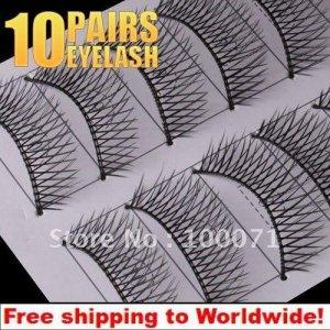 10 x Pair False Eyelashes 0# BC+ Free shipping to worldwide!