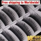 10 x Pair False Eyelashes #1028 BC+ Free shipping to worldwide!