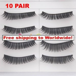 10 x Pair False Eyelashes #028 BC+ Free shipping to worldwide!
