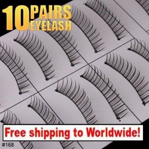 10 x Pair False Eyelashes #168 BC+ Free shipping to worldwide!