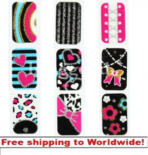 1 X Glitter 3D Stickers Decals Decoration BG+ Free shipping to worldwide!