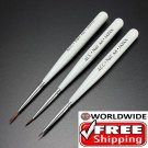 3 x Acrylic Nail Art Brush Set Drawing Pen BG+ Free shipping to worldwide!