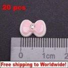 20 Pink Acrylic Rhinestone Bow BG+ Free shipping to worldwide!