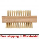 8.5cm Double Sided Wooden Manicure Nail Cleaning Scrubbing Brush BG+ Free shipping to worldwide!