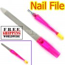 2 in 1 Metal Nail File Cuticle Trimmer Remover Buffer BG+ Free shipping to worldwide!