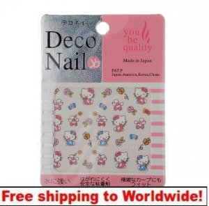 1pc Kitty Cat Nail Art Sticker Decal BG+ Free shipping to worldwide!