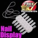 Portable Polish 24 Tips Display Nail BG+ Free shipping to worldwide!