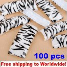100pcs Black Leopard Dots False BG+ Free shipping to worldwide!
