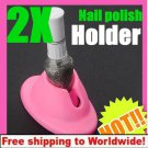 2pcs Nail Polish Bottle Rubber Holder BG+ Free shipping to worldwide!