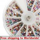 1 x Nail art mix shaped wheel glitter BG+ Free shipping to worldwide!