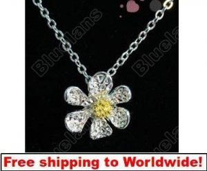 Necklace  Elegant Cute Core Flower Pendant Sweater Chain+ Free shipping to worldwide!