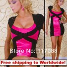 Pink Short Sleeve Sheath Dresses With Lace+ Free shipping to worldwide!